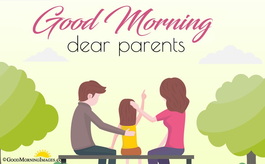 Animated Full HD Good Morning Wishes Greeting Image For Mom Dad