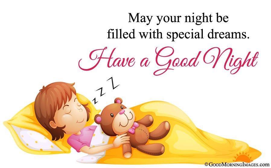 Animated Good Night Greeting Wishes Image