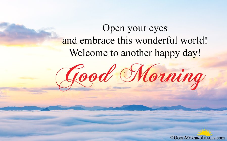 Another Happy Day Good Morning Wishes Msg With HD Background Wallpaper