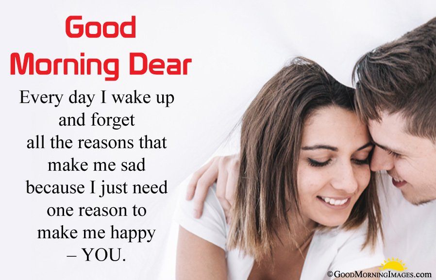 Beautiful Good Morning Wishes For Girlfriend With Hd Couple Image