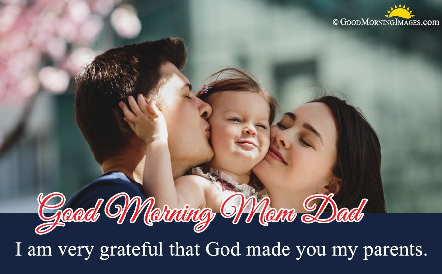 Beautiful HD Image With Good Morning Wishes For Parents