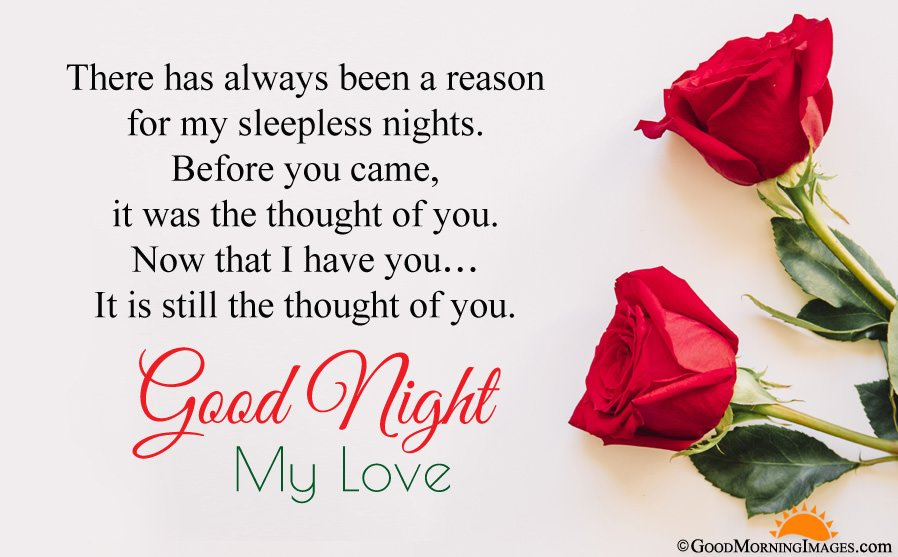 Beautiful Red Roses Wallpaper With Good Night Wishes