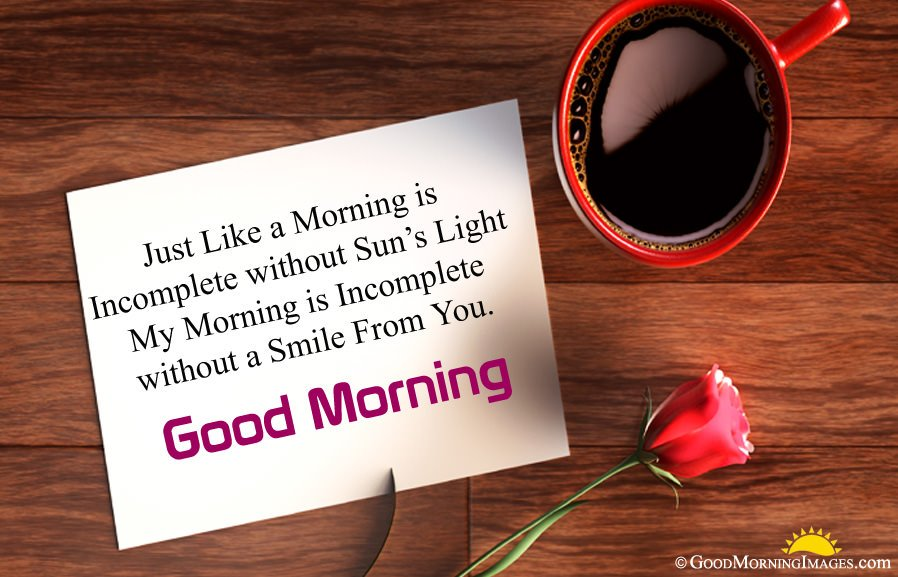 Best Good Morning Sms Msg For Girlfriend With Full Hd Cup Image