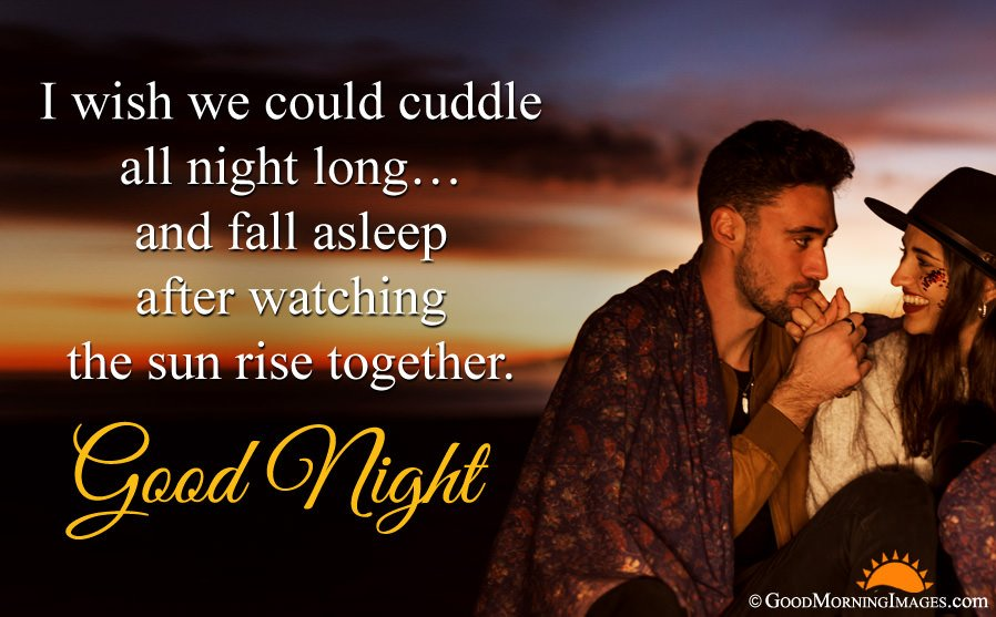 Best Good Night Love Quote Sms With HD Couple Wallpaper