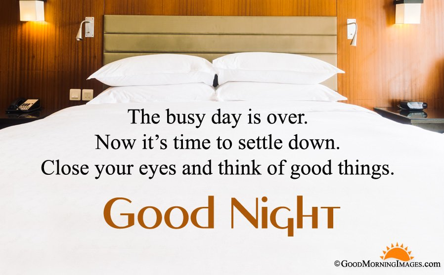 Best Good Night Quote Sms With HD Bedroom Background