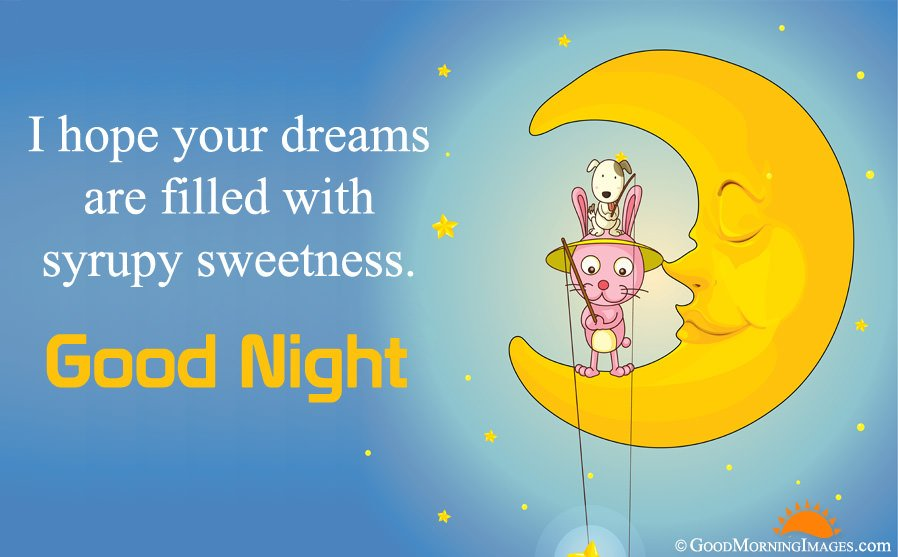 Best Good Night Wishes With Cute Full HD Wallpaper