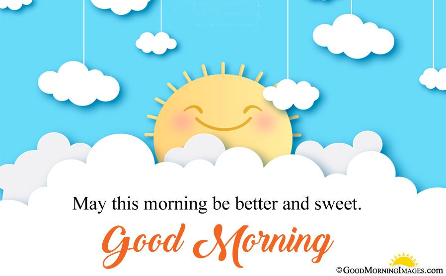 Cute Sun Good Morning Image With Wishes