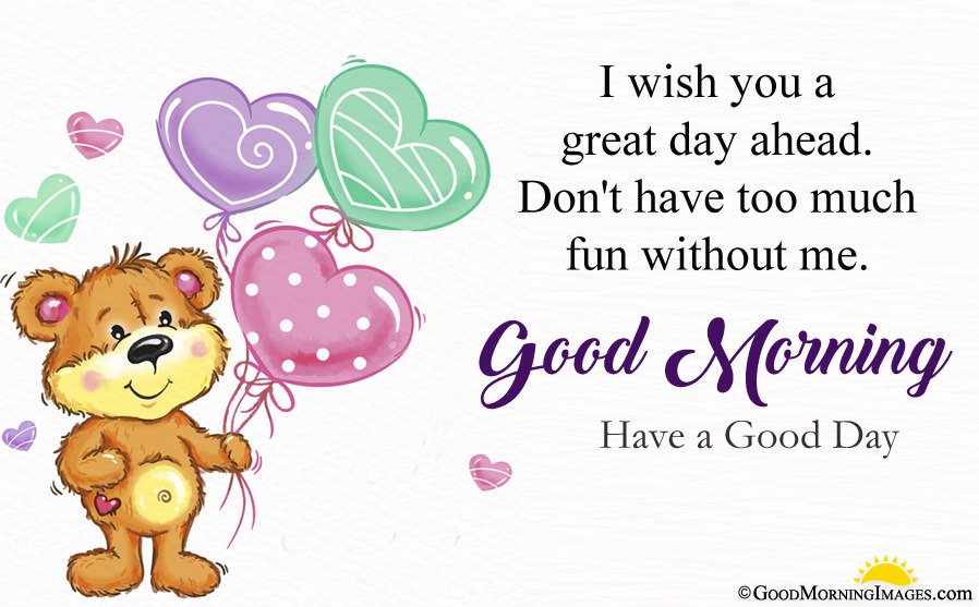 Cute Teddy Bear HD Image With Have a Good Day Message