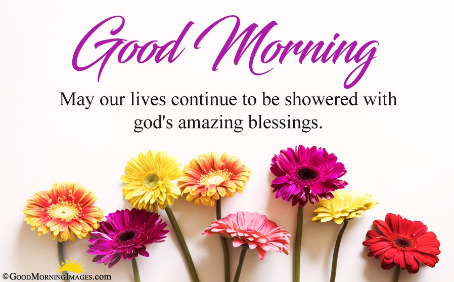 Flowers Wallpaper With Good Morning Blessing