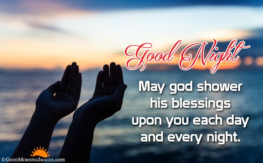 Full HD Wallpaper With Good Night Blessing Wishes
