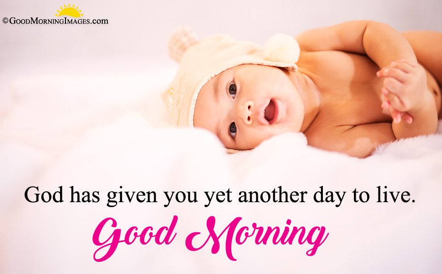Full Hd Cute Baby Image With Good Morning Wishes