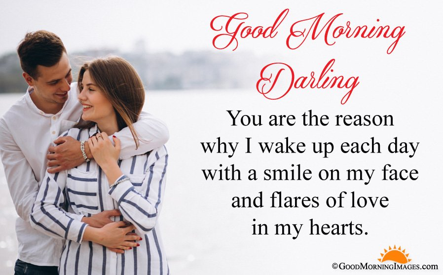 Good Morning Darling Message For Boyfriend With HD Picture