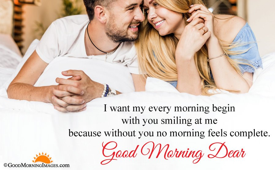Good Morning Full HD Couple Image With Message For Boyfriend