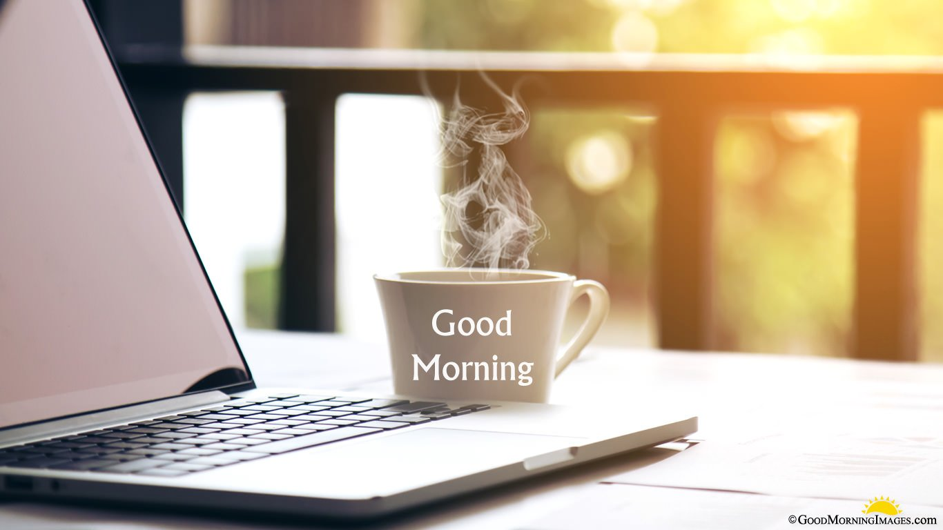 Good Morning Hot Tea Cup Laptop Wallpaper