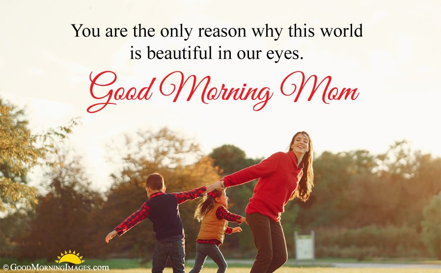 Good Morning Love Message For Mom With HD Wallpaper