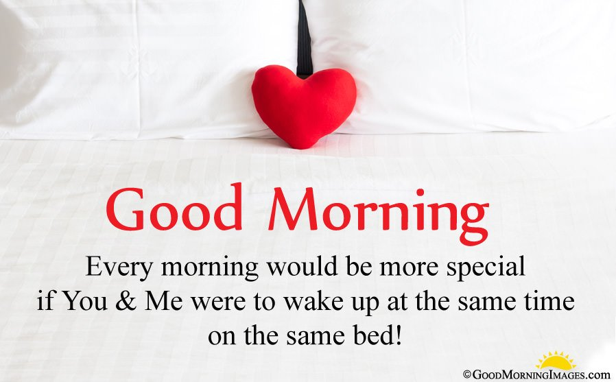 Good Morning Love Message With HD Heart Picture