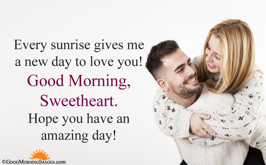 Good Morning Romantic Wishes For Boyfriend With Full HD Wallpaper