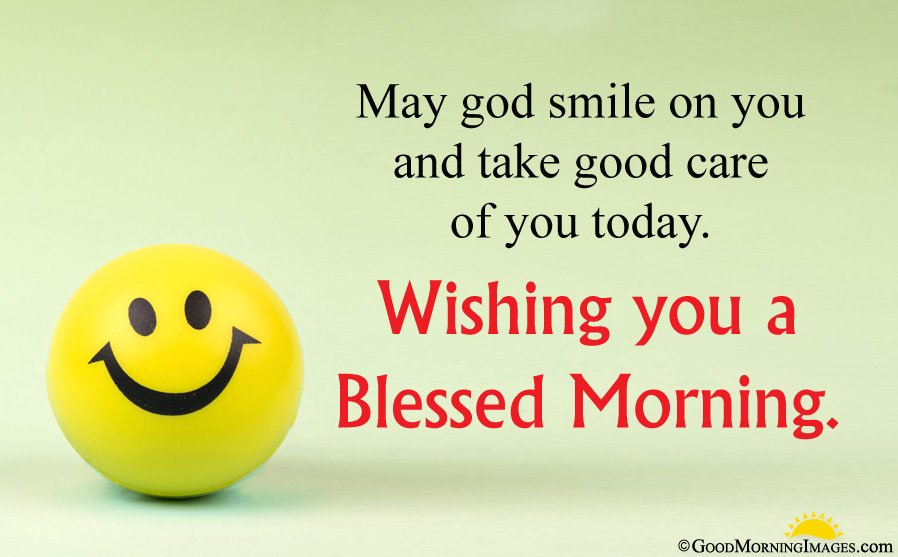 Good Morning Smiley Image With Blessing
