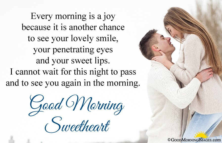Good Morning Sweetheart Message For Gf With Full Hd Romantic Picture