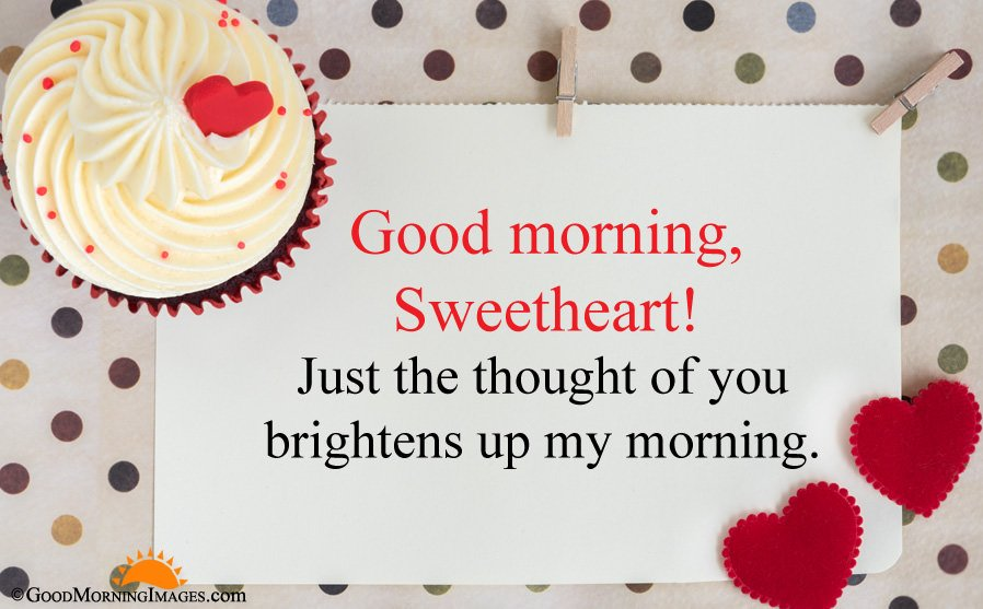 Good Morning Sweetheart Wishes HD Greeting Image For Boyfriend