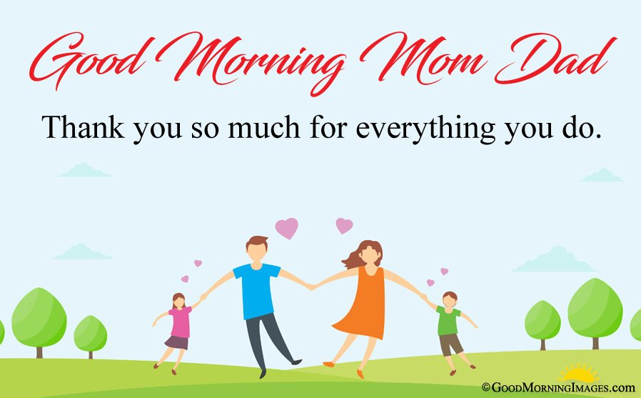 Good Morning Thank You Sms Message For Mom Dad With HD Animated Wallpaper