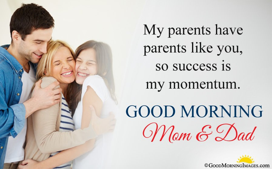 Good Morning Wishes Quote For Parents With Hd Wallpaper
