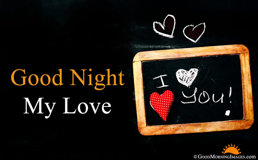 Good Night My Love Greeting Image For Girlfriend Boyfriend