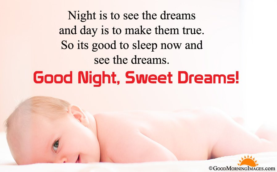 Good Night Sms Message With Full HD Cute Baby Wallpaper