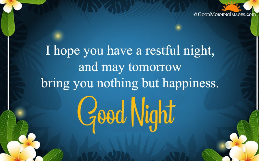 Good Night Wishes Greeting Image In HD Size