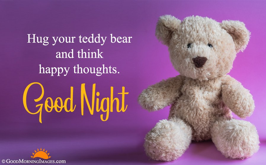 Good Night Wishes With HD Teddy Bear Wallpaper