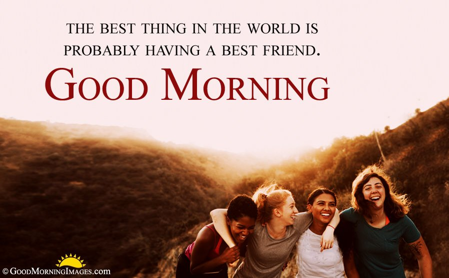 HD Best Friends Picture With Good Morning Wishes