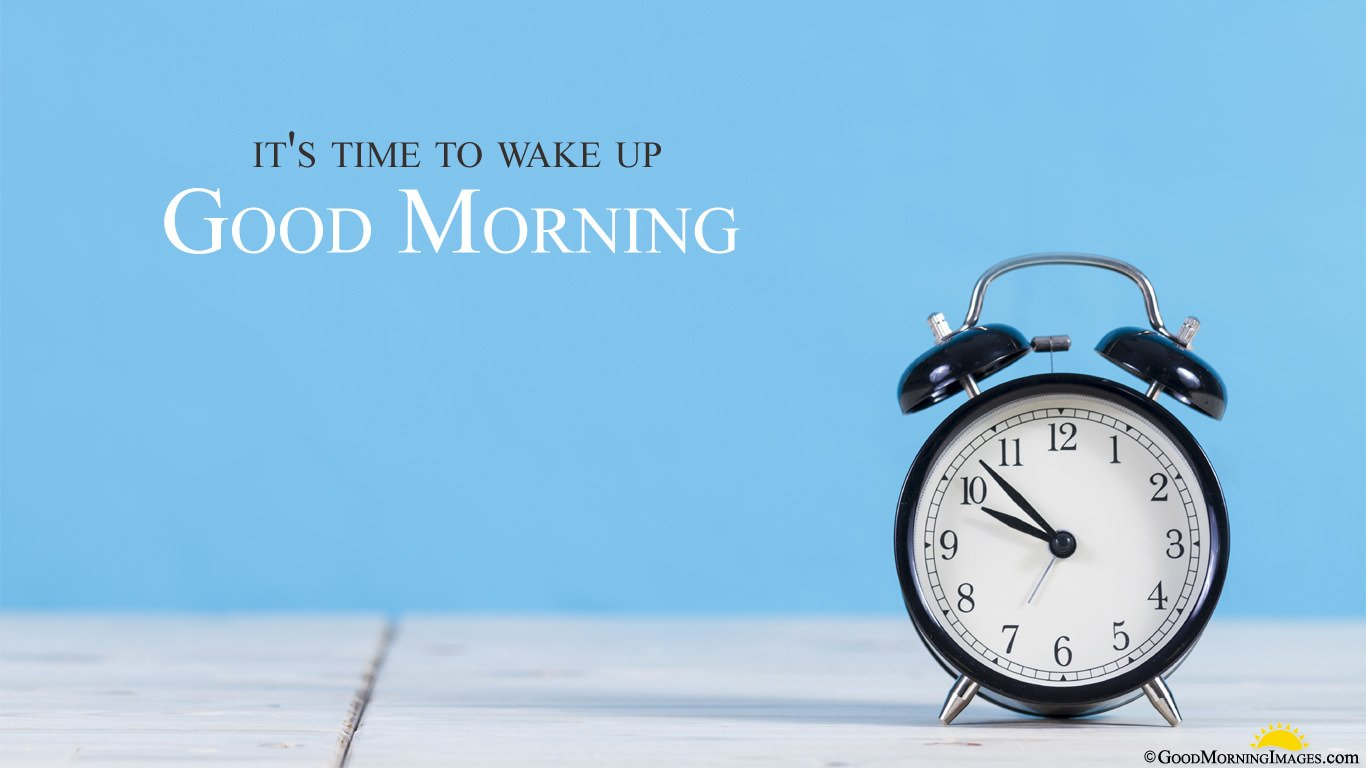 Laptop Full HD Alarm Good Morning Wallpaper