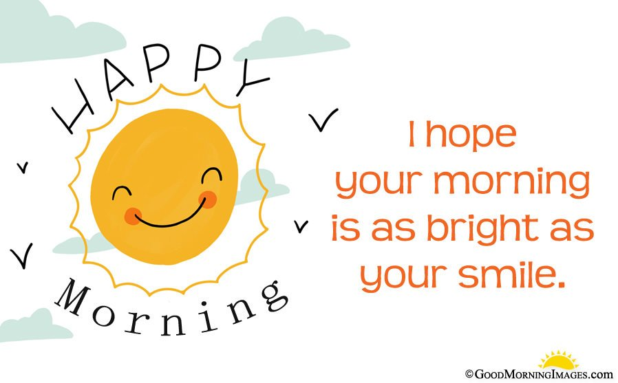 Latest Cute Happy Morning Sun Image in Hd With Good Morning Wishes