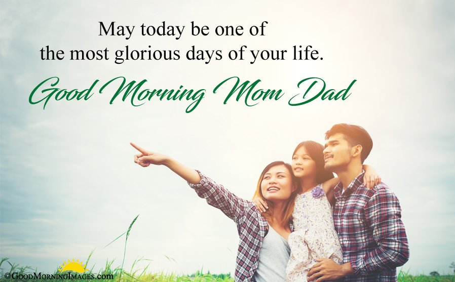 Latest Good Morning Mom Dad Wishes Quote Image