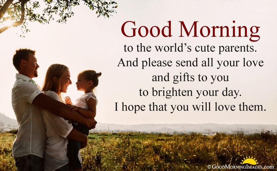 Latest Good Morning Wishes For Parents With HD Wallpaper