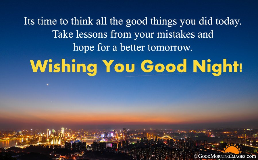 Latest Good Night Sms Wishes With HD City Lights Night Wallpaper