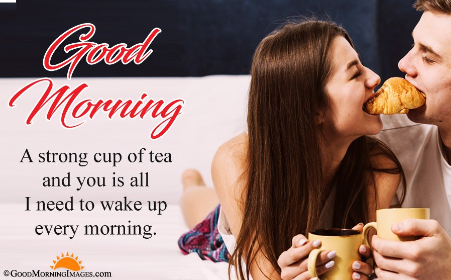 Lovely Good Morning Sms Wishes For Boyfriend With HD Wallpaper