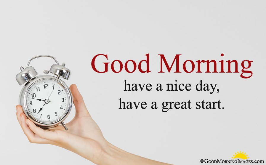 Morning Alarm Clock HD Wallpaper With Have a Nice Day Wishes