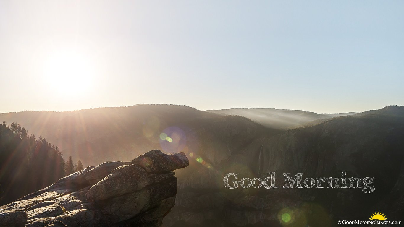 Mountain Sunrise Full Hd Background Good Morning Image