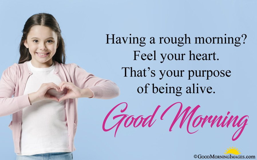 Positive Good Morning Quote With Full HD Image