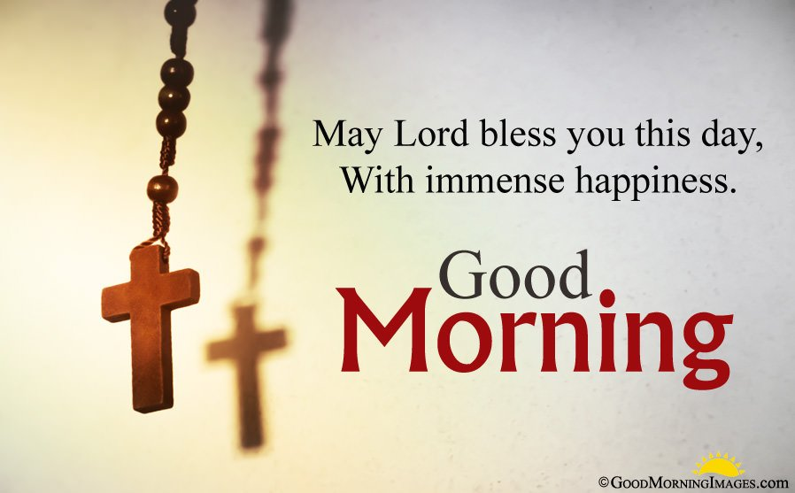 Religious Cross Image With Good Morning Blessings Quotes