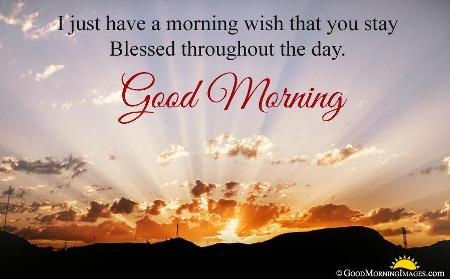 Religious Good Morning Sunrise Image