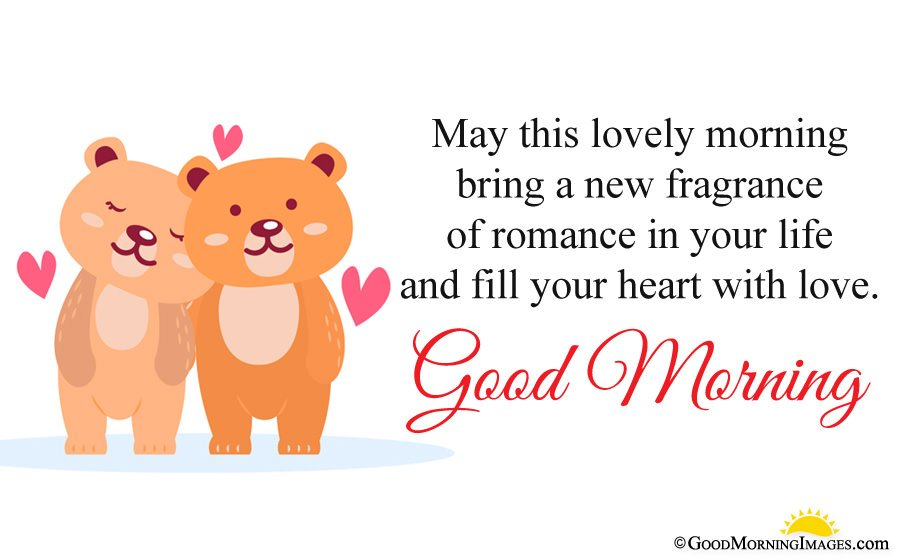 Romantic Good Morning Cute Love Sms With Full HD Couple Teddy Bear Wallpaper