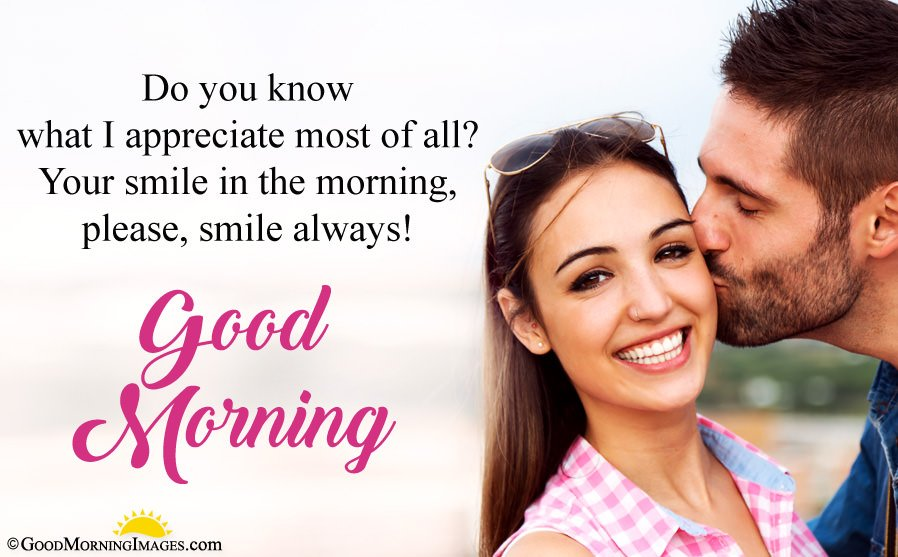 Romantic Good Morning Message For Wife With Full HD Couple Image
