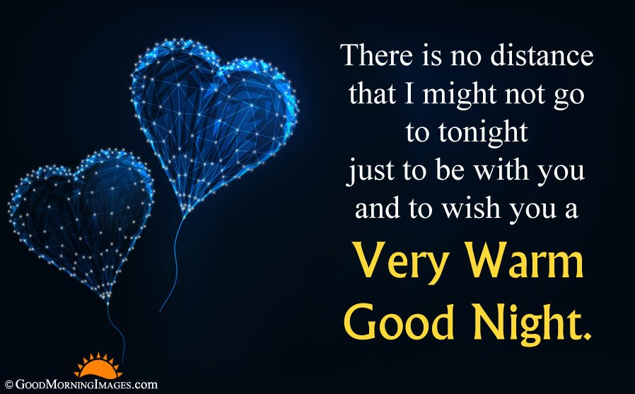 Romantic Good Night Warm Wishes For Girlfriend With Full HD Heart Picture