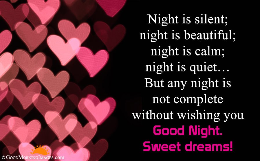 Romantic Good Night Wishes Message For Couple With Picture