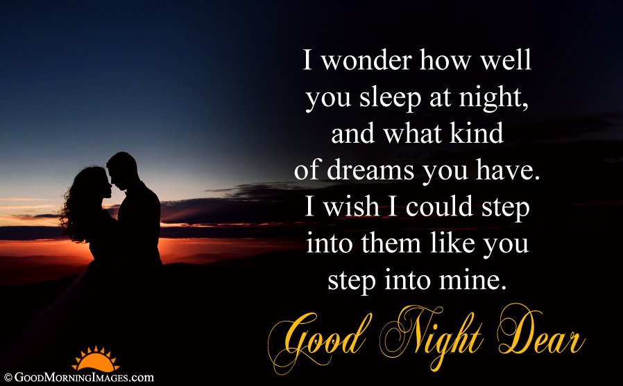 Romantic Night Couple Picture With Good Night Wishes