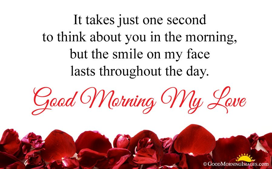 Rose Petals HD Image With Good Morning Love Wishes For Girlfriend