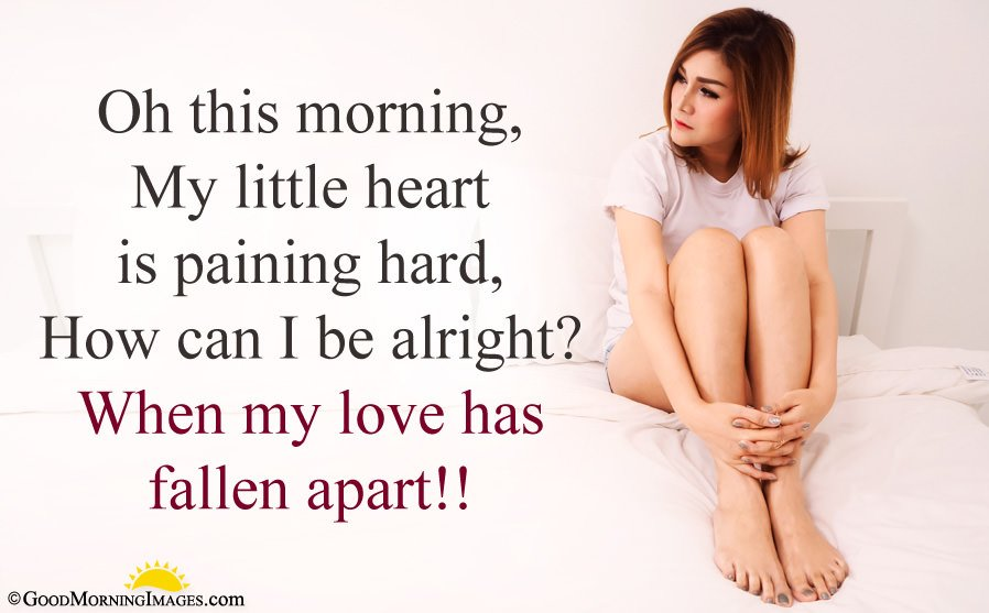 Sad Love Good Morning Message With HD Wallpaper