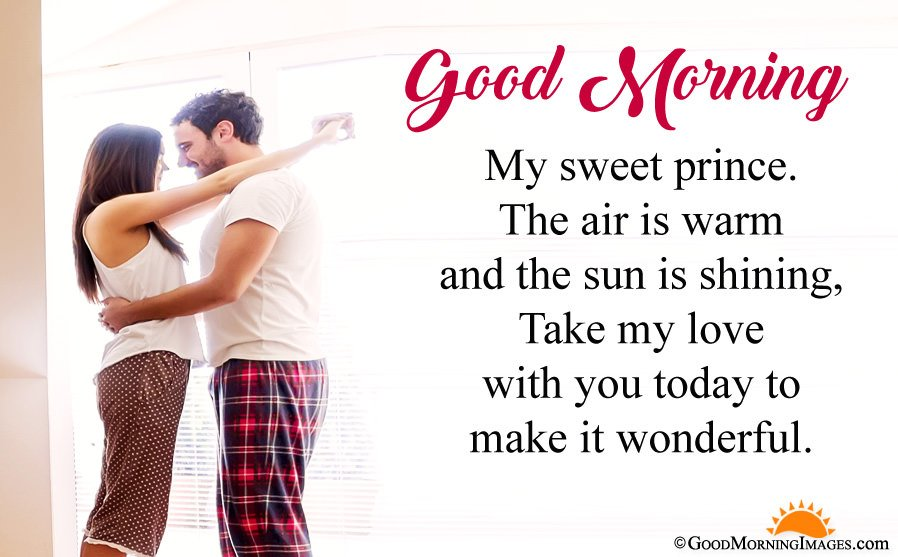 Sweet Good Morning Message For Boyfriend With Full HD Couple Wallpaper